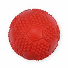 Gumená hračka pre psov - pískajúca lopta, 7cm