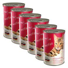 Konzerva BEWI CAT Meatinis HYDINA - 6 x 400g, 5+1 GRATIS