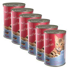 Konzerva BEWI CAT Meatinis SALMON - 6 x 400g, 5+1 GRATIS