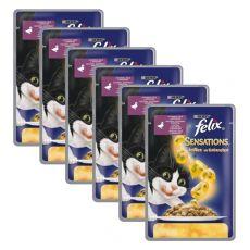 Felix Sensations - kačka a špenát v želé, 6 x 100 g