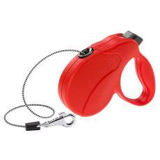 Vodítko Amigo Easy Mini do 12kg - 3m lanko, červené