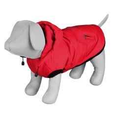 Zimná bunda Palermo pre psa s kapucňou, červená - 33cm