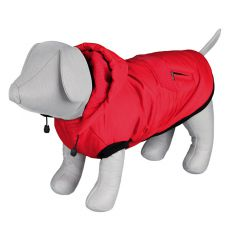 Zimná bunda Palermo pre psa s kapucňou, červená - 30cm