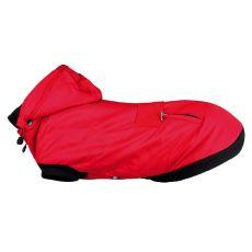 Zimná bunda Palermo pre psa s kapucňou, červená - 40cm