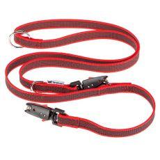 Vodítko pre psa Daytona nylonové, červené - 1,2-2 m / 20 mm
