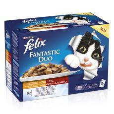 Kapsičky FELIX Fantastic Duo - lahodný výber v želé, 12 x 100 g