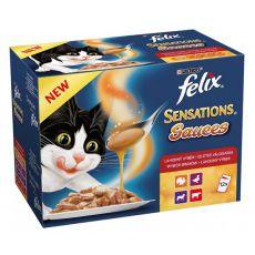 Felix Sensations Sauces - lahodný výber v omáčke, 12 x 100 g