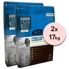 Acana Heritage Cobb Chicken & Greens 2 x 17 kg