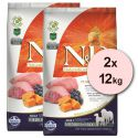 Farmina N&D dog GF PUMPKIN adult medium/maxi, lamb & blueberry - 2 x 12kg