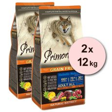Primordial GF ADULT - jahňa a tuniak 2 x 12 kg