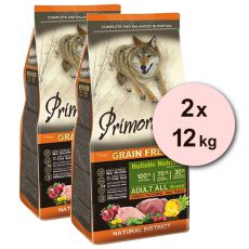 Primordial GF ADULT - vysoká zver a moriak 2 x 12 kg