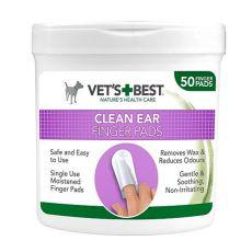 Čistiace utierky na uši pre psy VET´S BEST, 50 ks