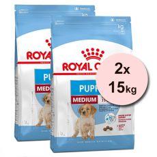 Royal Canin Medium Puppy granule pre stredné šteňatá 2 x 15 kg