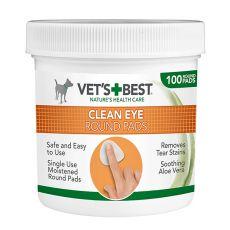 Čistiace utierky na oči pre psy VET´S BEST, 100 ks