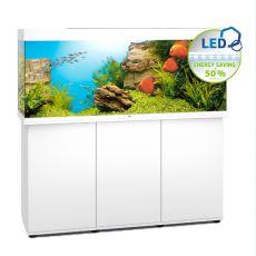 Set JUWEL akvárium RIO LED 450 biely + skrinka