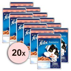 Felix krmivo - losos v želé, 20 x 100 g