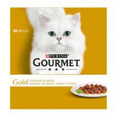 Konzerva GOURMET GOLD - kúsky v šťave, 8 x 85g