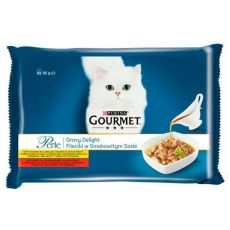 Kapsičky GOURMET PERLE Gravy Delight - hovädzie a kura, 4 x 85 g