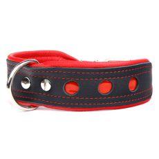 Reflexný obojok Neo, čierno - červený 4 cm x 33 - 41 cm