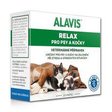 ALAVIS Relax pre psy a mačky 75 mg, 20 tabliet