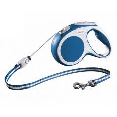 Flexi Vario S vodítko do 12 kg, 5m lanko - modré