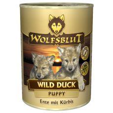 Konzerva WOLFSBLUT Wild Duck PUPPY, 395 g