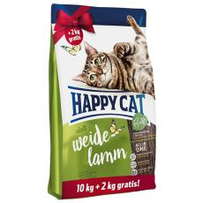 Happy Cat Supreme Adult Weide-Lamm 10 + 2 kg GRATIS