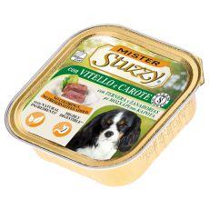Vanička Mister STUZZY Dog - teľacie a mrkva, 150g