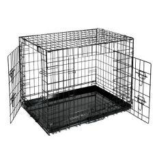 Klietka Dog Cage Black Lux - 2x dvierka, S - 61,5 x 42,5 x 50 cm