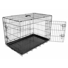 Klietka Dog Cage Black Lux - 2x dvierka, M - 78,5 x 52,5 x 59 cm