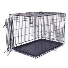 Klietka Dog Cage Black Lux, XXL - 125,8 x 74,5 x 80,5 cm