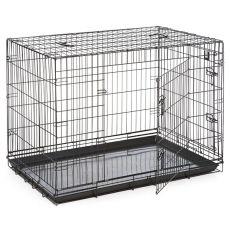Klietka Dog Cage Black Lux - 2x dvierka, XXL - 125,8 x 74,5 x 80,5 cm