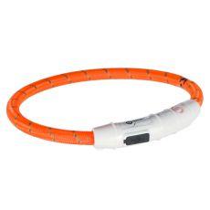 Svietiaci LED obojok M-L, oranžový 45 cm
