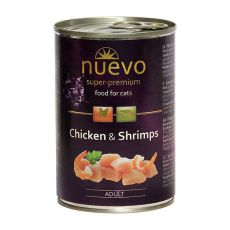 Konzerva NUEVO CAT Adult Chicken & Shrimps 400 g