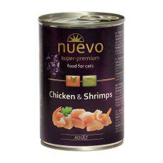 Konzerva NUEVO CAT Adult Chicken & Shrimps 400 g