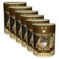Konzerva WOLFSBLUT Wild Boar, 6 x 395 g