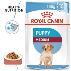 Royal Canin Medium Puppy kapsička pre stredné šteňatá 140 g