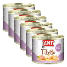 Rinti Filetto - kura so šunkou  v omáčke, 6 x 210 g