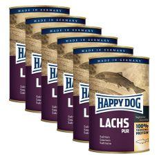 Happy Dog Pur - Lachs 6 x 375 g / losos, 5+1 GRATIS