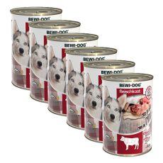 New BEWI DOG konzerva – Hovädzie mäso 6 x 400 g, 5+1 GRATIS