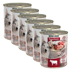 New BEWI DOG konzerva – Hovädzie mäso 6 x 800g
