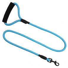 Okrúhle nylonové vodidlo pre psy modré, XL - 120 cm