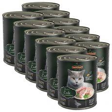 Konzerva pre mačky Leonardo, kačka 12 x 800 g