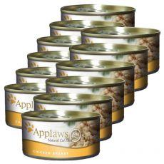 Applaws Cat - konzerva pre mačky s kuracími prsiami, 12 x 70g