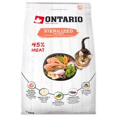 Ontario Cat Sterilised Salmon 2 kg