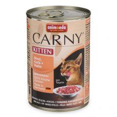 Krmivo CARNY KITTEN hovädzie, teľacie + kura 400 g