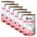 Konzerva Brit Paté & Meat PUPPY 6 x 400 g