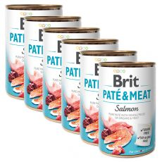 Konzerva Brit Paté & Meat Salmon 6 x 400 g