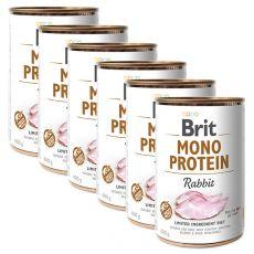 Konzerva Brit Mono Protein Rabbit 6 x 400 g