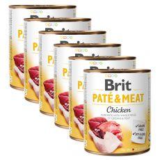 Konzerva Brit Paté & Meat Chicken 6 x 800 g